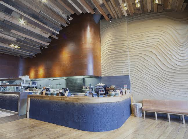 Embossed clay finish, Nando's restaurant in Newcastle