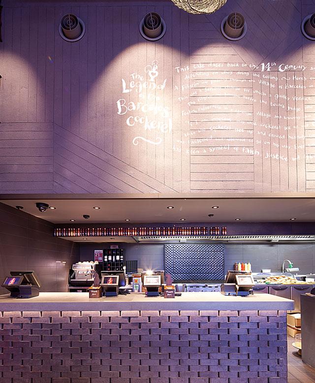 Smooth clay finish, Nando's restaurant in Nottingham Silverlink, photographer Helene Collie van de Langenberg