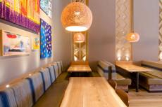 Carved clay walls and ceiling, Nando's restaurant in West Bromwich