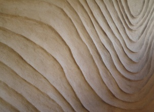 Undulated clay finish, Nando's restaurant in Newcastle
