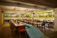 Rough clay finish, Wahaca restaurant in Waterloo, London