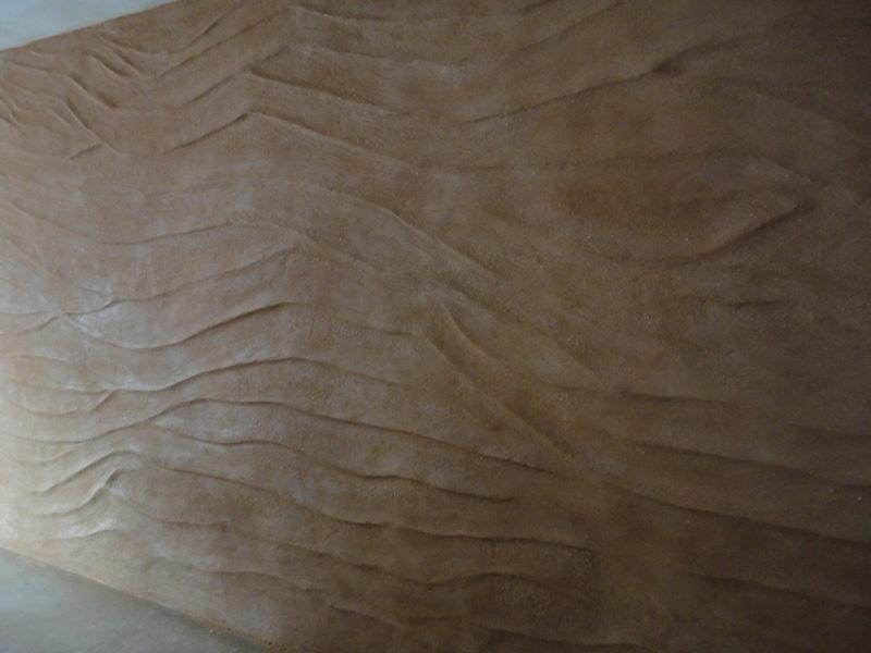 Undulated clay finish, Gokyuzu & Kervan Restaurant, London