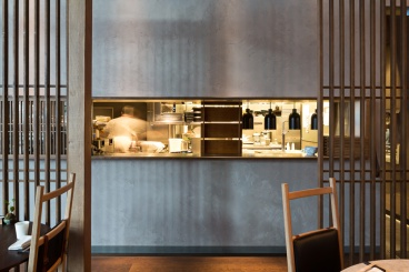 Jason Atherton's Sosharu Restaurant in London. Clay Application by Guy Valentine. Photo by Adam Scott