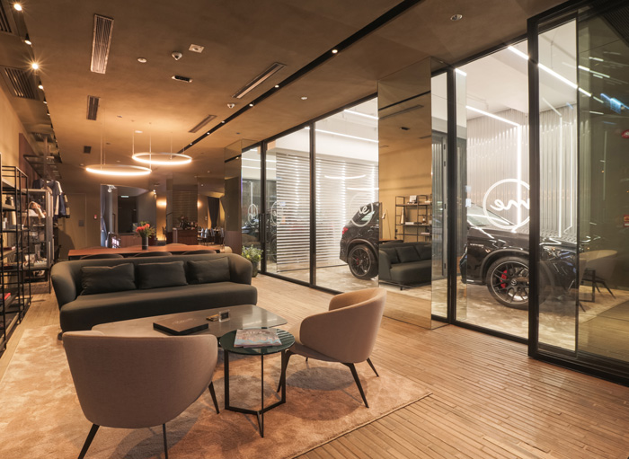 Mercedes Me store in Hong Kong, clay application project completed in April 2018. Photo courtesy of Mercedes Me, Hong Kong