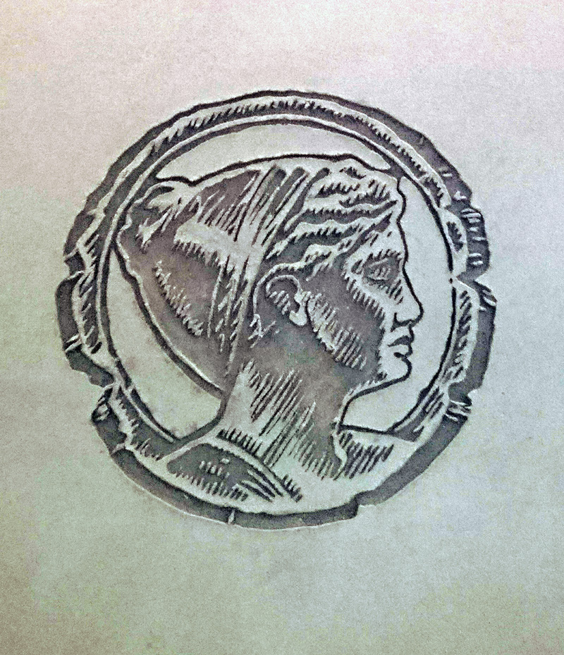 Carved Clay Logo by Guy Valentine, Artemis Investment Management, London