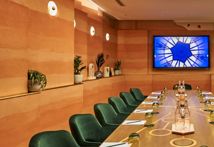 Hilton_Hotel_Agora_Meeting_Room_Rammed_Earth_Effect_Clay_Finish_by_Guy_Valentine