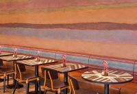 Rammed-earth-clay-plaster-finish-by-Guy-Valentine-Nando's-Restaurant-in-Chesterfield