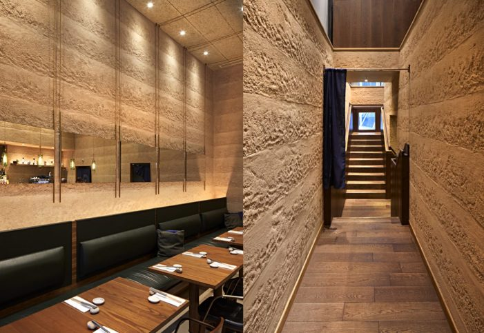 Rammed-earth-clay-plaster-finish-by-Guy-Valentine-Sticks-n-Sushi-Restaurant-in-London-design-by-Neri-and-Hu-2